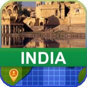 當前離線 印度 地圖