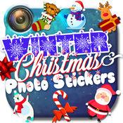 冬季 照片 贴纸 - 圣诞 图片 编辑 和 相机 剪辑