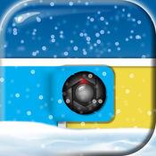 冬季为主题的拼贴制造商 - 结合照片同新年图片框架和网格