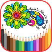 著色書 著色頁 為成人 HoliColoring 反应力,放松,曼陀罗,鲜花,动物,蝴蝶,童话世界