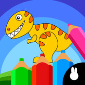 儿童涂鸦恐龙画...