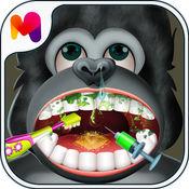 疯狂大猩猩牙医生 - 医生游戏家庭
