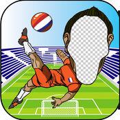 照片变脸HD欧足联2016欧元 - 调整与足球英雄的玩家你的脸