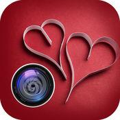 照片贺卡恶作剧 - 情人节爱贴纸和照片编辑器 1