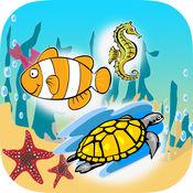 孩子们拼写海洋动物