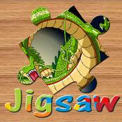 恐龙龙战斗拼图免费大脑训练游戏的孩子