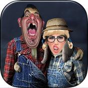 Redneck照片蒙太奇 - 山坡图片编辑 - 照片编辑器,图片标题,有多种效应产生叠加画面