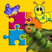 幼虫和蝴蝶七巧板游戏