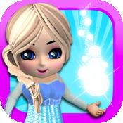 打扮好,让我自己的小白雪公主游戏广告免费女孩 1