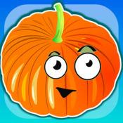 开心蔬菜!儿童和幼儿发育游戏:逻辑,点数,颜色,习题。 学龄前儿童教育和发育,小童课。