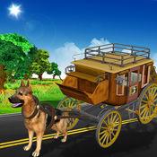 驱动器的狗车出租车  狗车驾驶模拟 1