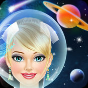 外層空間女孩沙龍 - 化妝和禮服遊戲的女孩和孩子們