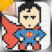 吸取经验教训,超级英雄像素艺术 1