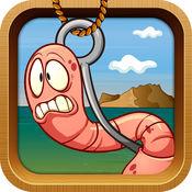 逃学蠕虫的具有挑战性的游戏捉虫年轻人为孩子。
