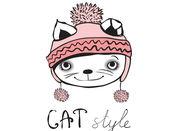 猫 貼紙 1