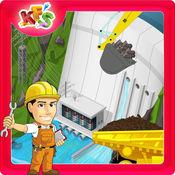 建立一个大坝 - 为孩子们建设和建设者的狂热游戏 1
