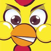 Hopping Chicken -飞扬跳脱愤怒的鸡用微小的翅膀用