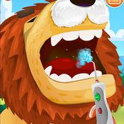 疯狂动物牙医-趣味模拟游戏,给狮子拔牙清洁牙齿 1