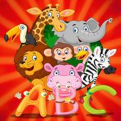 学习英语与动物ABC字母表(A-Z)教育为孩子 1
