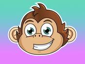 可爱的猴子贴纸
