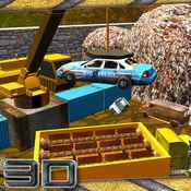 汽车破碎机垃圾场起重机和快速司机模拟器