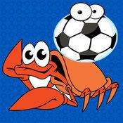 海洋动物的足球比赛 - 鱼VS蟹游戏的孩子