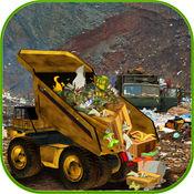 垃圾车模拟器 - 清理杂乱的城市道路和运输垃圾到垃圾场