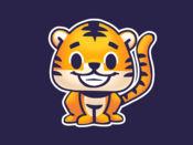 Rawai老虎 - 孩子的小老虎貼紙停放