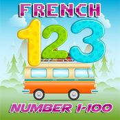 學習英語到法語號1至100個免費:雙語幼兒園和學齡前兒童 1