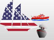 船 - 海贴纸的浮动仓 1