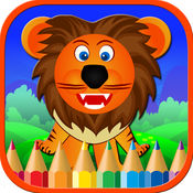 动物着色页画书与动物