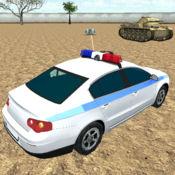 警车在现代战场...