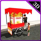 薯条小贩周期和食物交付骑手模拟