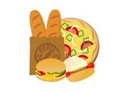 贴纸诱人食欲的面包
