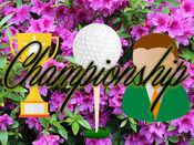 主要高尔夫球公开赛贴纸:冠军高尔夫球手。