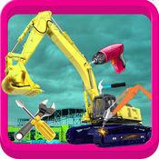 起重机维修店 - 在这个游戏中的机械师修复工程车辆