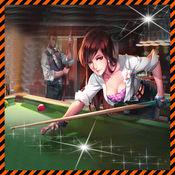 9球台球斯诺克桌球美女 1