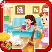 家政日 - 孩子们的清理和装修房子的房间