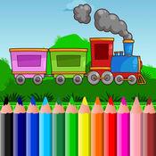 火車著色書頁免費為孩子 1