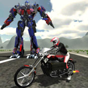 机器人vs自行车战争:速度战斗冒险游戏