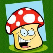 触摸彩色蘑菇弹跳球游戏的孩子1