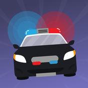 警笛的警车:追求赛车。刑事使命