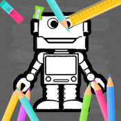 机器人儿童图画书游戏