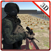 3D团伙监狱的院子里狙击手 - 守卫监狱和拍摄恐怖分子逃逸