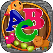 ABC字母表虚线:孩子的教育比赛