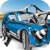 超级带轮赛车 - 快速特技追逐挑战 免费