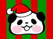 可爱大熊猫 圣诞节贴纸 - Pandaaa!!!