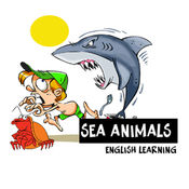 海洋动物在英语语言为孩子和小学