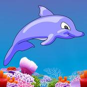 Dolphin YikYak - 在海中游泳收集星星