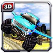 飞行怪物卡车冒险和卡车驾驶 1